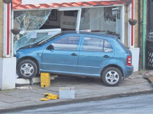 Diners dive for cover as car ploughs into cafe
