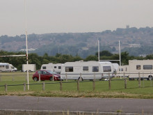 Travellers set up camp on Shaw Cross playing fields