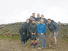 Batley physios conquer Three Peaks for charity