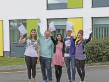 A-level students celebrate superb results