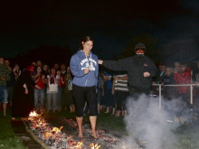 Brave fire walkers raise four figures for charity