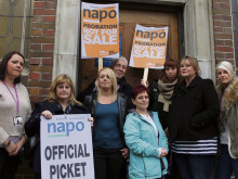 Probation staff strike over service sell-off