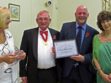 Mr Mitchell on hand to present Ossett's civic awards