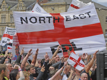 EDL planning protest in Batley town centre