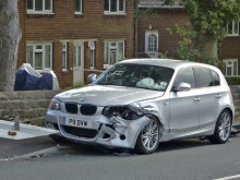 Fleeing car thief arrested after smash