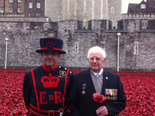 Old soldier George gets VIP treatment at Tower poppy spectacle