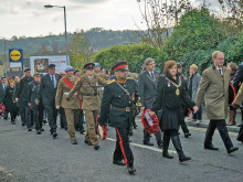 Record crowd attends Mirfield's remembrance parade