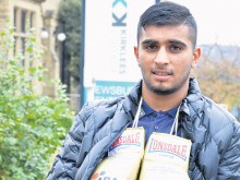 Olympic boxing hopeful Hamza aims to be a knockout student