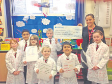 Pupils put their shirts on science