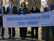 Cut council admin, not libraries, Tories demand