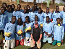 Football kit wings its way to Gambian youngsters