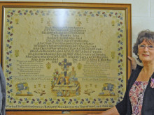 Minster unveils tapestry's tragic story of a mother's heartbreak
