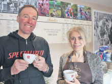 Coffee bar celebrates cycling heritage
