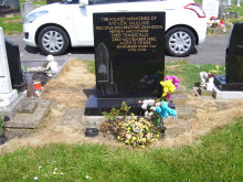 Workers killed our graveside flowers