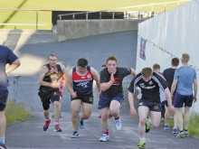 Pre-season training is an uphill task for Cleck boys