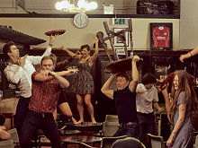 Theatre group's wild night at the pub... so get there early doors!