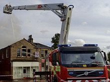 Drugs find after former auction house goes up in flames
