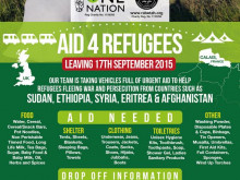 Charity seeks donations for refugee aid crusade