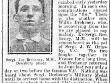 Humble story of Celtic war hero Joe Breheney