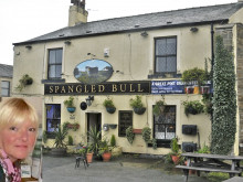 Pub landlady run over by robbers' car