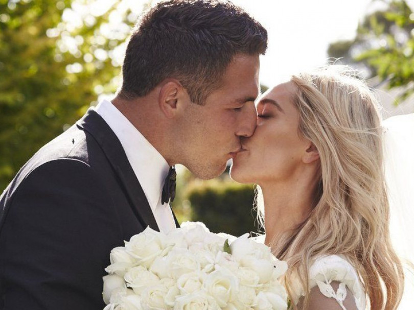 Sam Burgess ties the knot