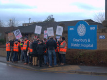 Junior doctor on Dewsbury hospital picket line talks to The Press