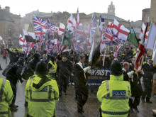 Now far-right EDL plan another protest after Dewsbury endures Britain First rally