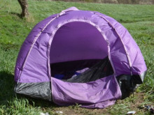 Fears for man living in tent by river