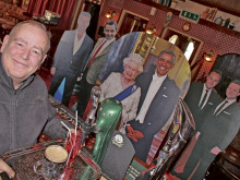 Famous faces at the bar as pub celebrates a special day...