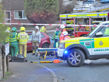 Two badly hurt in high-impact car crash following road chase