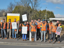 Quiet days at hospital as doctors man the picket lines