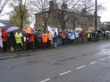 'Hands' off our hospital protest