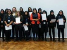 Mentor Sayeeda works with Batley Girls