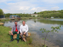 Enthusiasts turn 'hole in the ground' into fishing lake and wildlife haven