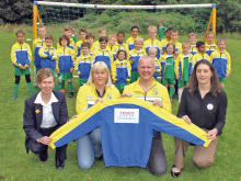 Budding footballers get all kitted out
