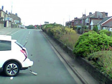 Footage released of callous pair who left mum and daughter in car wreckage