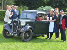 Tea party goes back to the 40s for hospice fundraiser