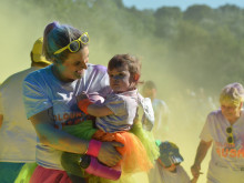 Kirkwood runners paint Oakwell red – blue, yellow, green...