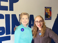 Batley councillor goes on Hillary's campaign trail