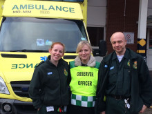 MP Brabin spends day with paramedics