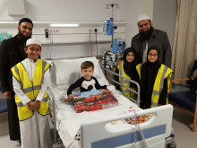Madresah students help young children in hospital