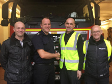 Rescue heroes are hailed by fire crew