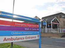 Hospital trust's A&E waiting time figures are worst in region