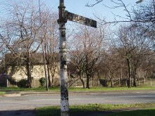 Restoring Hightown Road's old fingerpost – and some civic pride