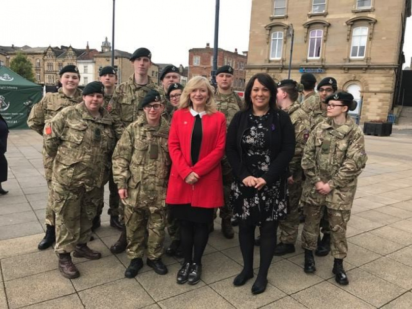 Town centre parade tribute to Dewsbury's VC heroes