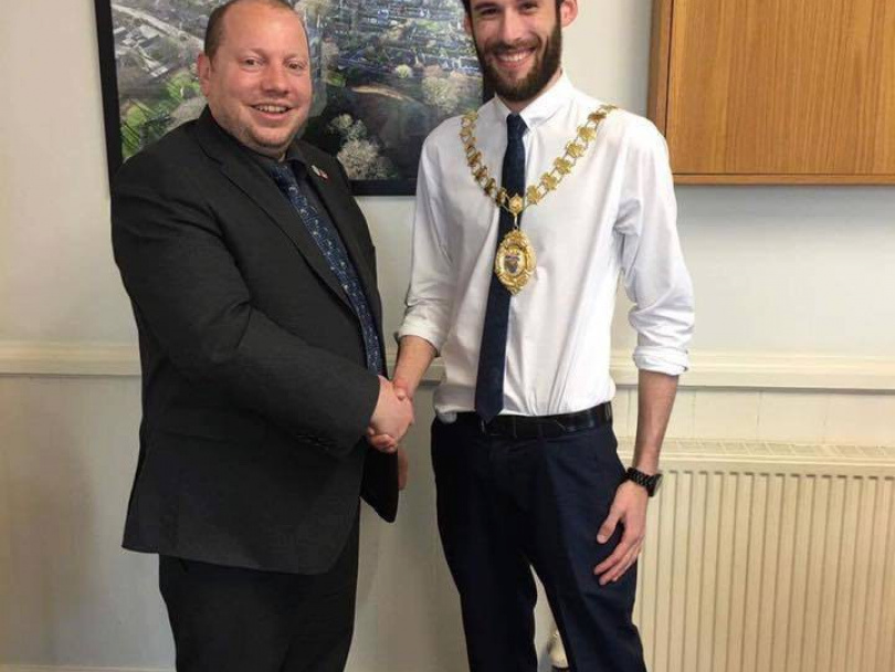 Mirfield's new mayor has plenty of energy