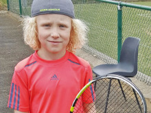 Meet the young tennis star who is making a racquet