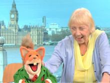 Boom boom! Basil Brush gets festival fever while making us laugh in a field...