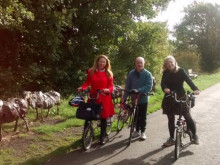 MP's cycle tour of greenway