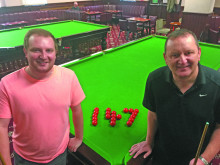 Former snooker pro hits record-breaking frame